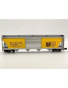 Vagón ealo verde Renfe cargado con troncos HO